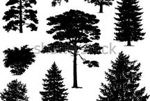 Black tree patern