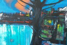 blue 50x70cm. oilcolours