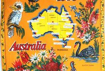 Retro Australian Calendar Tea Towels