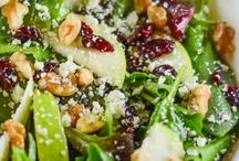 Apple Walnut Cranberry Salad is made with sweet crisp apples, tart dried cranberries, salty gorgonzola cheese, and crunchy walnuts