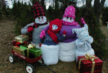 Snow Friends / Our Christmas Tree Farm decorations