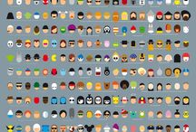 Superboard of Superheroes and Supervillains. / DC and Marvel mixed together in an unholy mess.  / by Cari Parsons