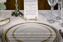 Downton Abbey Inspired Table Settings / The art of entertaining went well beyond the elaborate feasts at Downton Abbey.  Grey Poupon invites you to set your holiday or every day table with these elegant modern settings inspired by Downton Abbey. / by Grey Poupon