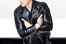Leather jacket,Brandon Flowers