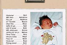 Scrapbook pages for baby book