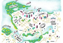 Illustrated Maps / Illustrations of maps for editorial