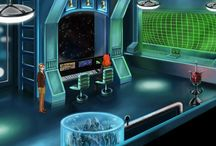 Quasar / In this short adventure game, you control four different characters as they explore the ship, each with their own skills and reactions to the environment.