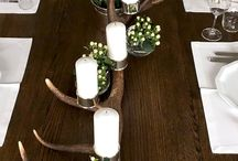 Deerlights - Kerzenleuchter Unikate / Rotwild Abwurfstangen handveredelt zu einzigartigen Tischleuchtern