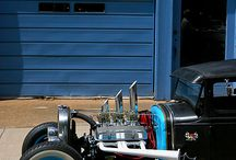 Hot rods and cars