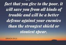 CHARITY / He who giveth unto the poor lendeth unto God...