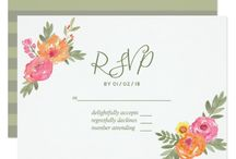 Spring Wedding watercolor flowers suite 1 / Customizable to your event specifications.