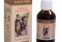 ALFALFA TONIC / Alfalfa Tonic is a complete family health tonic recommended for fatigue, loss of appetite, nervousness as a result of anxiety, worry and overwork. Efficaceous in Anaemia, Especially good for Convalescents.