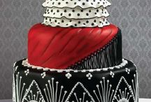 Cakes - Wedding / Magnificent designs on wedding cakes. Ever since my ex n I did ours together (jet black icing with hot pink & hot blue frangipanis) I've been inspired & in awe of the beauty of cakes.