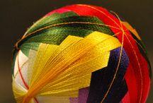 Темари - шары из ниток