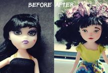 DOLLS  - HEAD- FACE - HAIR - REPAINT FACE IDEAS & TUTORIALS
