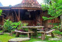 Suasana Omah Jowo Gunungkidul / Suasana Resto dipadukan dengan Arsitektur Jawa
