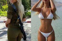 Army girls.