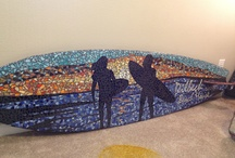 mozaiek surfplank
