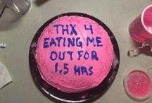 make me a fucking cake / my birthday is on fucking monday you fucks