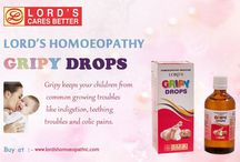 Homeopathic Medicine For Gripy Drops / The other product recently introduced by Lord's Homeopathic is Gripy Drops. Children are faced with several common but painful conditions such as colic pain, indigestion due to changing food habits, teething troubles, worm infestations and troubles associated with them and so on. Its harmless composition and mild dosage does not harm the gentle bodies of babies but serves its purpose nonetheless.
