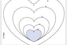 srdce šablona