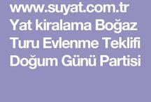 Yat Kiralama / İstanbul'da Boğaz ve Adalar Turu