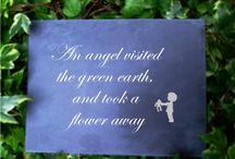Infants' memorials / http://www.houseandgardenplaques.co.uk/slate-budget-memorials-gallery