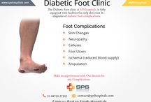 Diabetic foot clinic at SPS hospitals / The Diabetic foot clinic at SPS hospitals, Ludhiana Centre is fully equipped with facilities for early detection and diagnosis of diabetic foot complications.