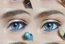 make-up albastru