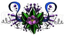 Flowers / Various tattoo designs with flowers
