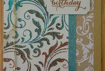 Card - glitter paste