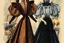 Late Victorian gowns