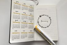 Bullet Journal Styles | Inspiration / Ideen Layouts Keys Creative Inspirations Spread Week Month Day...