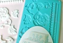 Flower molds for shabby chic furniture etc