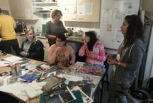 Loughborough Foyer Arts Project / Residents creating artwork for themselves and their homes!