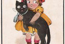 Vintage patterns & illustrations - animals & kids / patterns & illustrations I might use for applique, embroidery or redwork...