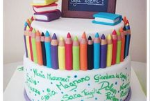 School themed cake