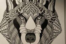 Wolvenkop / kleurplaat