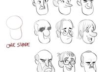Character Block-Outs / These are examples of rough character construction drawings