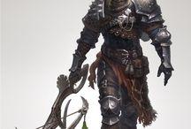 Rycerze / Postacie będące inspiracją przy tworzeniu kart postaci do RPG i PBF.