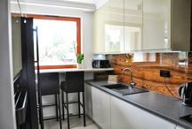 Kuchnia i Łazienka w stylu glamour // Glamour kitchen and Glamour bathroom / Realizacja projektu wnętrz mieszkania w Warszawie. http://www.jedynetakiewnetrza.pl/galeria.php?id=1&projekt=80