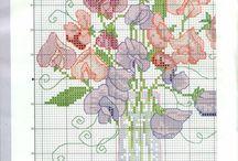 Cross stitch flowers & Gardens