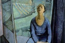 FELICE CASORATI / (1883/1963). Pintor, escultor y grabador italiano. El simbolismo y el retorno al orden.