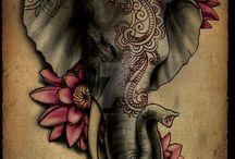 elephant tatto
