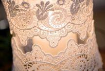 Деревенский стиль украшения для свадебного стола