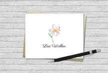 Personalized Note Cards / A collection of personalized note cards illustrated and designed by VLHamlinDesign.