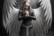 ☼ Ange Gothic ☼ / Les anges noirs ne sont pas des êtres qui m'attirent, ni qui m'inspirent puisqu'ils sont du côté de l'ombre. Néanmoins, se sont des anges tristes qui ont leur place dans l'univers angélique car pour que la lumière ouvre de nouveaux horizons, la noirceur doit la précéder. L'un ne va pas sans l'autre tel le Yin et le Yang.  ☼ www.angesgardiens.net ☼ #AngesGardiens #Ange_Gothic