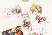 Floral Postcards