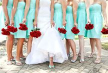 Tiffany Blue & Red Wedding / Inspiration for a bright red and Tiffany blue or teal wedding color scheme.