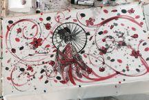 Pittura su seta / Seta dipinta a mano